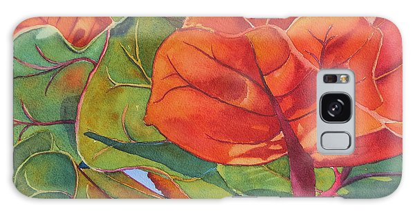 Seagrape Leaves Galaxy Case by Judy Mercer