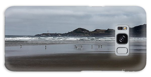 Seagulls And Lighthouse Galaxy Case by Erica Hanel