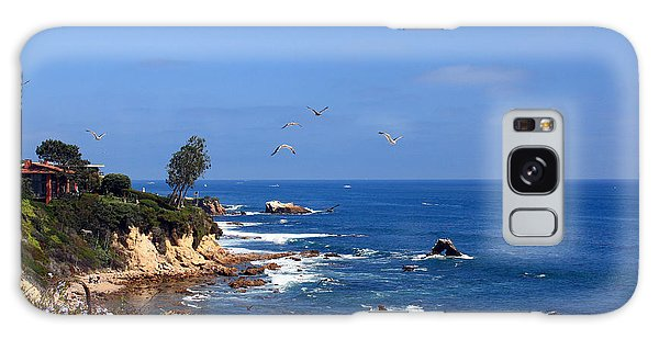 Seagulls At Laguna Beach Galaxy Case