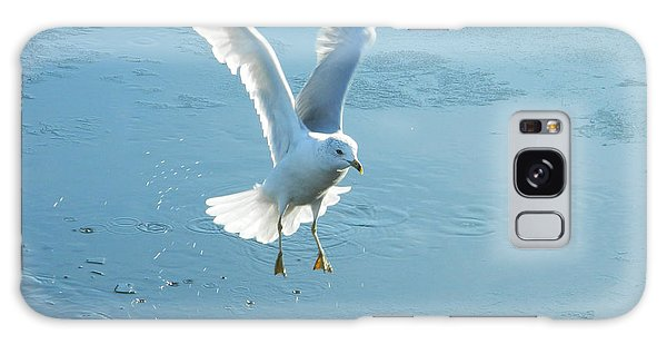 Seagull's Flight Out Of Icy Water Galaxy Case