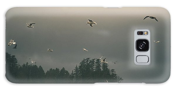 Seagulls In A Storm Galaxy Case