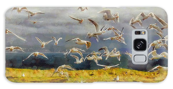 Seagulls Of Protection Island Galaxy Case