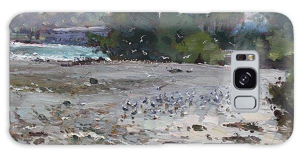 Seagulls Galaxy Case - Seagulls On Niagara River by Ylli Haruni