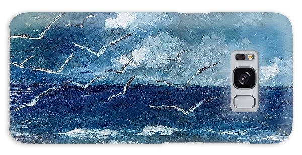 Seagulls Over Adriatic Sea Galaxy Case