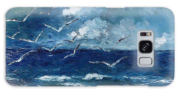 Seagulls Over Adriatic Sea Galaxy Case by AmaS Art