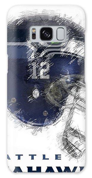 Seahawks 12 Galaxy Case by Daniel Hagerman