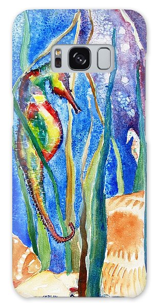 Seahorse And Shells Galaxy Case
