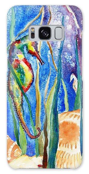 Seahorse And Shells Galaxy Case by Carlin Blahnik
