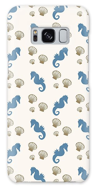 Cottage Galaxy Case - Seahorse And Shells Pattern by Christina Rollo