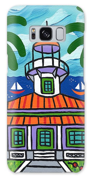 Seahorse Key Lighthouse Galaxy Case
