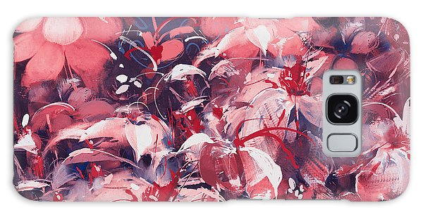 Nature Galaxy Case - Seamless Abstract Flowers,oil Painting by Tithi Luadthong