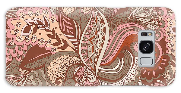 Wrap Galaxy Case - Seamless Abstract Hand-drawn Floral by Radugaart