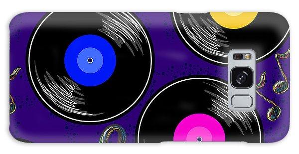 Record Galaxy Case - Seamless Music Pattern With Vinyl by Artskvortsova