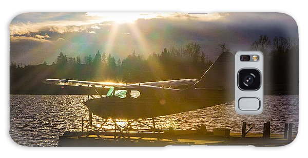 Seaplane Sunset Galaxy Case
