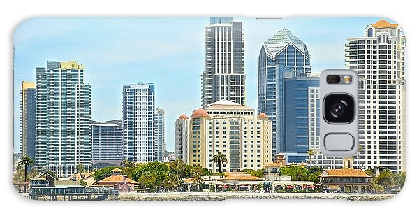 Seaport Village And Downtown San Diego Buildings Galaxy Case by Claudia Ellis