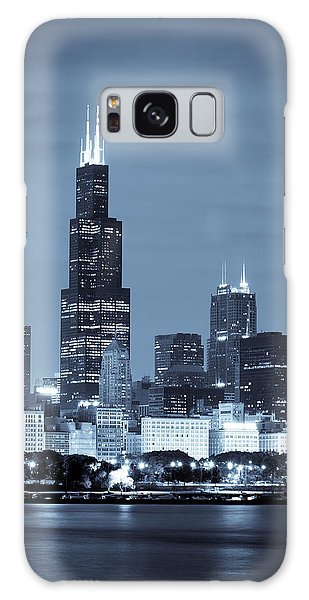 Galaxy Case featuring the photograph Sears Tower In Blue by Sebastian Musial
