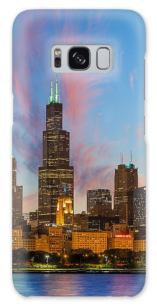 Sears Tower Sunset Galaxy Case by Sebastian Musial