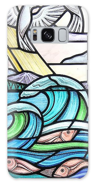 Seascape Galaxy Case by Gilroy Stained Glass