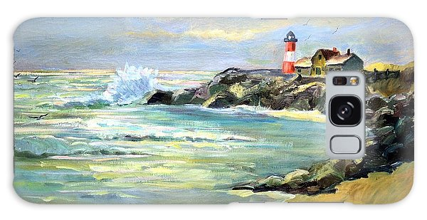 Seascape Lighthouse By Mary Krupa Galaxy Case by Bernadette Krupa