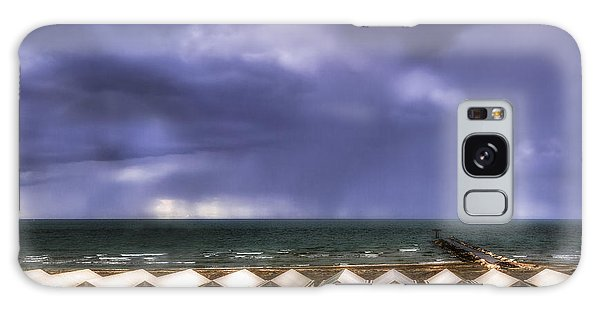 Seascape With Bathing Huts Galaxy Case