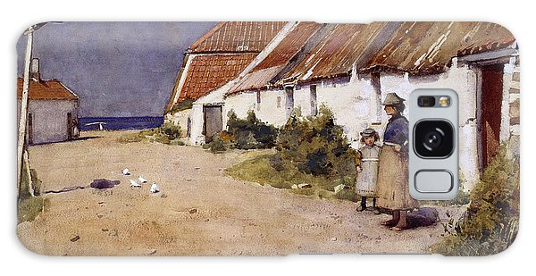 Seaside Cottages With Dovecot Galaxy Case by Edward Arthur Walton