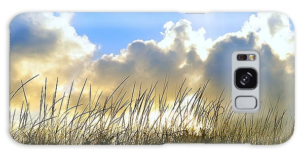 Seaside Grass And Clouds Galaxy Case