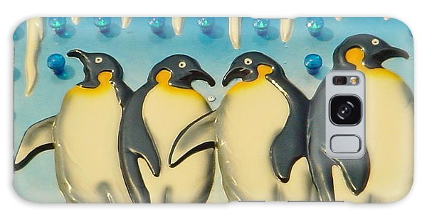 Seaside Funtown Penguins Galaxy Case by Lyric Lucas