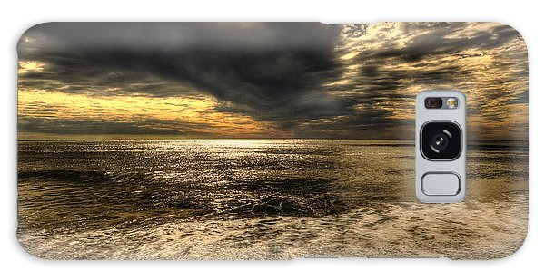 Seaside Sundown With Dramatic Sky Galaxy Case by Julis Simo