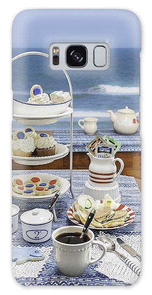 Seaside Tea Party Galaxy Case by Karen Stephenson