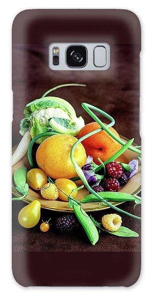 Seasonal Fruit And Vegetables Galaxy Case