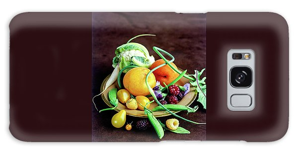 Seasonal Fruit And Vegetables Galaxy Case by Romulo Yanes