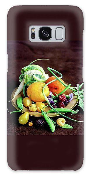 Seasonal Fruit And Vegetables Galaxy Case
