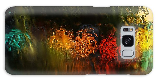 Seasons Fireballs Galaxy Case by Peter Thoeny