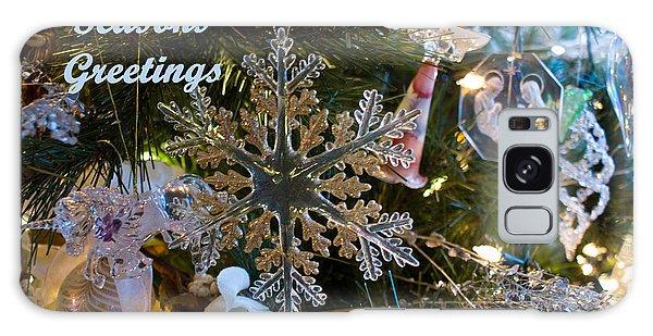 Seasons Greetings Card 2 Galaxy Case by Joanne Smoley
