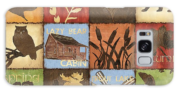 Trout Galaxy Case - Seasons Lodge by Debbie DeWitt