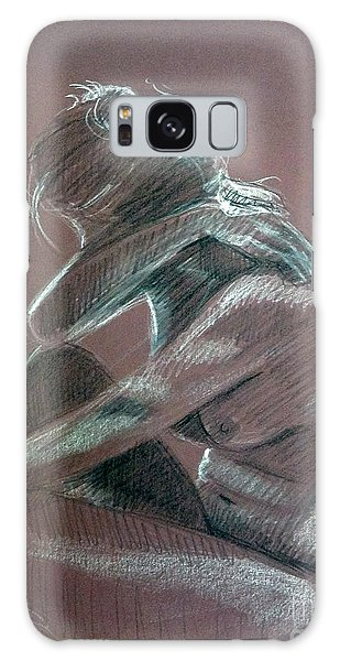 Seated Woman Side Light Galaxy Case
