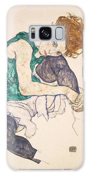 Seated Woman With Legs Drawn Up. Adele Herms Galaxy Case