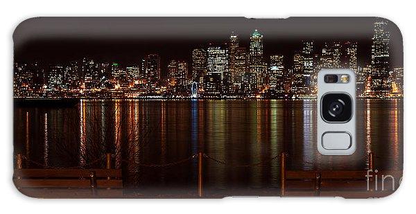 Seattle At Night Galaxy Case