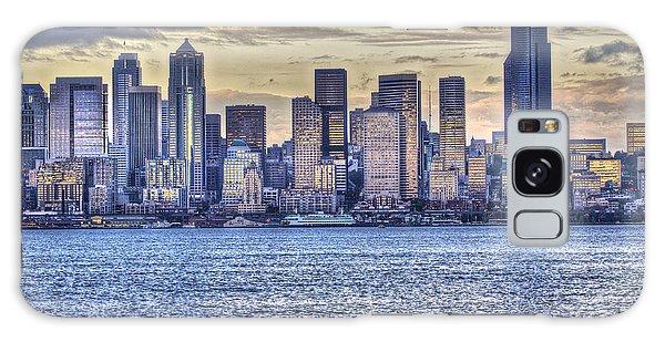 Seattle At Twilight From Alki Beach Galaxy Case