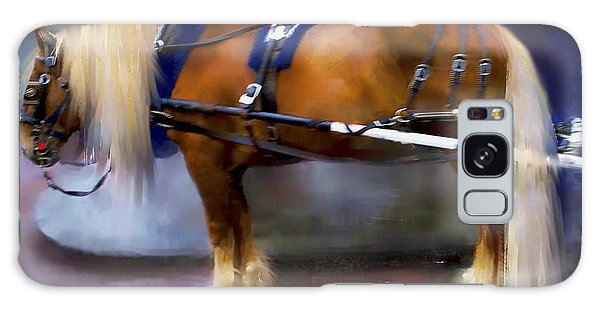 Seattle Carriage Horse Galaxy Case by Kari Nanstad
