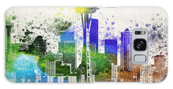 Seattle City Skyline Galaxy Case by Aged Pixel