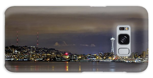 Seattle Cityscape At Night Galaxy Case
