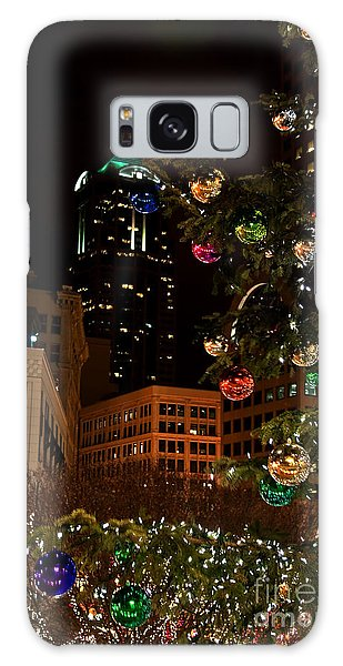 Seattle Downtown Christmas Time Art Prints Galaxy Case