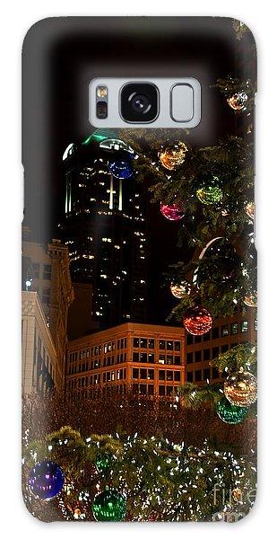 Seattle Downtown Christmas Time Art Prints Galaxy Case