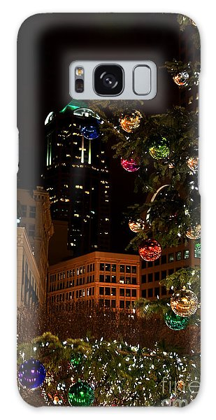Seattle Downtown Christmas Time Art Prints Galaxy Case by Valerie Garner