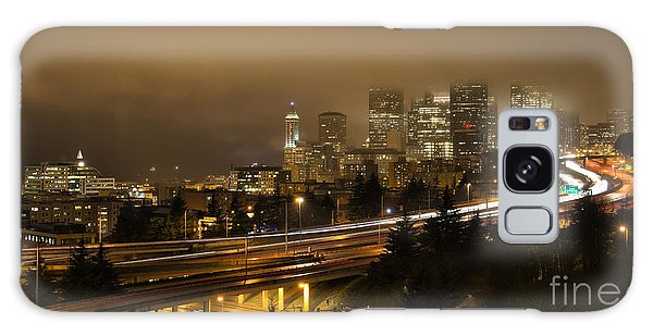 Seattle Downtown Skyline From Dr Jose Rizal Bridge At Dusk  Galaxy Case
