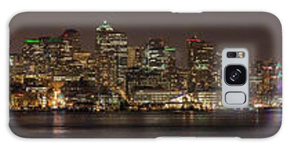 Seattle Lake Union Winter Reflection Galaxy Case
