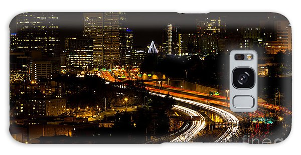 Seattle Light Trails Galaxy Case