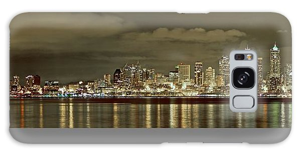 Seattle Lights At Night From Alki Galaxy Case