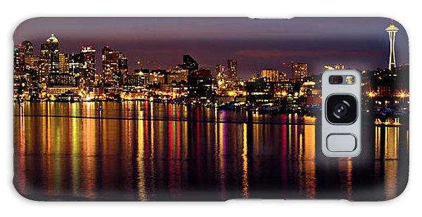 Seattle Night Reflections Galaxy Case